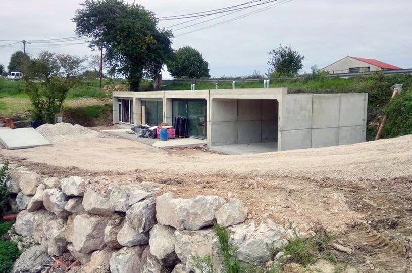 Logement durable construit avec de la terre  - Modular BTP